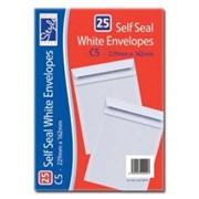 O/style Envelope Wht S/s C5 25's (STA025)