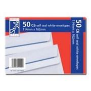 O/style Envelopes White S/s  C6 50s (STA001)