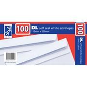O/style Envelopes White S/s Dl 100s (STA002)
