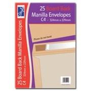 O/style Envlpe Board Back Manlla C4 25s (STA015)