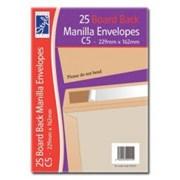 O/style Envlpe Board Back Manlla C5 25s (STA016)