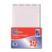 O'style Padded Wht Envlpe 180x265mm D (STA047)
