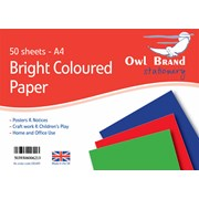 Owl Brand Bright Col.paper 50sheet A4 (OBS489)