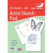 Owl Brand  Drawing Sketch Pad 25 sheets A4 (OBS737)