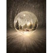 Festive B/o Lit Forest Crackle Ball 20cm (P024823)