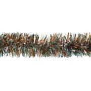 Festive Silver/teal/copper Tricolour Tinsel 200x10 (P026703)