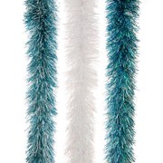 Festive Pastel Downswept Tinsel 3 Assorted Colours (P026726)