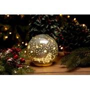 Festive B/o Lit Santa Crackle Ball 15cm (P028736)