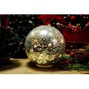 Festive B/o Lit Santa Crackle Ball 20cm (P028737)