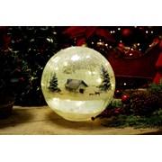 Festive B/o Lit Lodge Crackle Ball 20cm (P028741)
