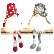 Festive B/o Lit Snowflake Gonks With Dangly Legs 50cm (P032224)