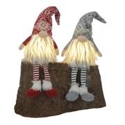 Festive B/o Lit Dangly Legs Skandi Gonks 2asstd 53cm (P035838)