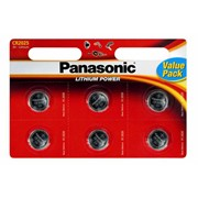 Panasonic Cr2025 Battery 6pk (PANACR2025-B6)