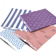 """Patterned Paper Bags Blue 500s 10x14"""" (1014BS)"""