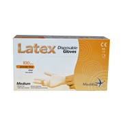 Medirite Latex Powder Free Gloves 100s Med (103488)