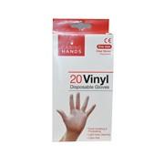 Caring Hands Vinyl Pre Powdered Gloves 20s (103495-GP0061)