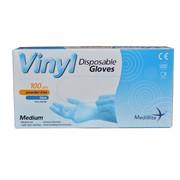 Medirite Vinyl Powder Free Gloves Blue 100s Med (103506)