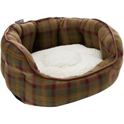 Petface Country Checkoval Bed Small (15072)