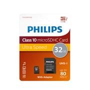 Philips 32gb Sdhc Card Class10 & Adapter (PHIMSD32GBC10)