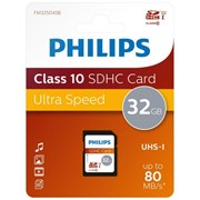 Philips 32gb Sdhc Card Class10 Uhs-i U1 (PHISD32GBC10)