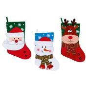 Premier 3 Asst Santa/snowman Stockings 41cm (PL195786)