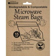 Planit Eco Friendly Microwave Steam Bags 15s (EQSM15CW)