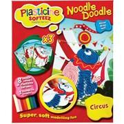 Plasticine Softeez Noodle Doodle Assorted (PLF02000)