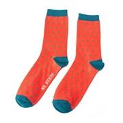 Mr Heron Polka Dots Socks Orange (MH005ORANGE)
