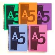 Polypropylene Spiral Notebook Asst A5 (POLYA5)