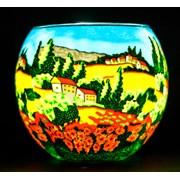 Light Glass Tealight Holder Poppy Fields (BELG165010)