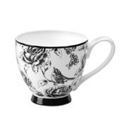 Portobello Footed Amalia Black Bone China Mug (CM03394)