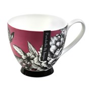 Portobello Footed Zen Garden Pink Bone China Mug (CM02311)
