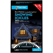 Premier 360 Led Snowing Icicles W/timer White (LV162183W)