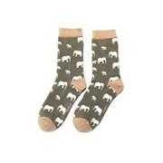 Miss Sparrow Elephant Socks Grey (SKS217GREY)