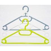 Russel Plastic Hangers Set Of 6 Green White Grey (PT3306)