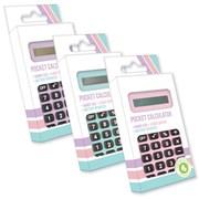 Pastel Pcket Calculator Asstd Colours (PTPC/1)
