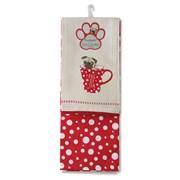 Cooksmart Pug Of Tea Tea Towel 2pk (1439)