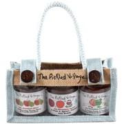 Pickled Village Christmas Triple Jar Jute (PV512)