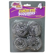Squeaky Clean Ramon  Stainless Steel Scourers 4pk (838SQ2)