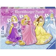 Ravensburger Disney 4 Princess Large Shaped Puzzles (7398)