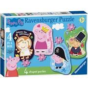 Ravensburger Peppa Pig 4 Shaped Puzzles (06981)