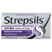 Strepsils Triple Action Blackcurrant 24s (RB779378)