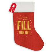 Red Hessian Stocking Gold Print Foil (XALGZ319)