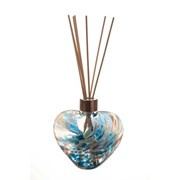 Amelia Art Glass Reed Diffuser Heart In Turquoise & White (REM35TW)