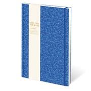 Cased Glitter Notebook Bright Blue A5 (RFS12803)