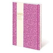 Cased Glitter Notebook Bright Pink A5 (RFS12804)