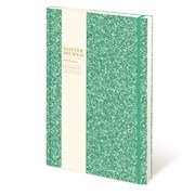 Cased Glitter Notebook Bright Turquoise A5 (RFS12805)