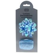 Iridescent Bow & Curling Ribbon Blue (RI9029)