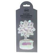 Iridescent Bow & Curling Ribbon White (RI9031)