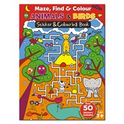A4 Maze Find & Colour Book Asst (MFC01-04)